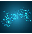 Blue abstract music background vector image vector image