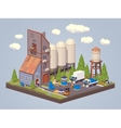 Silo plant Storage of liquids vector image