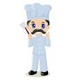 Cute cartoon of a chef vector image