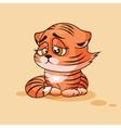 Tiger cub sad vector image
