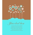 Greeting card invitation vector image vector image