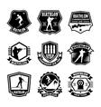 Biathlon Badges vector image