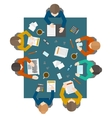 Business meeting in top view vector image