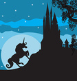 Castle and Unicorn vector image