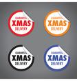 christmas peel sticker set vector image
