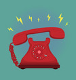 classic vintage retro dial telephone are ringing vector image