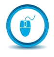 Computer mouse icon blue 3D vector image