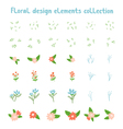 Decorative floral design elements collection vector image