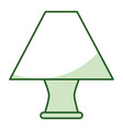 elegant table lamp icon vector image