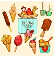 Ice Cream Sketch Colored vector image