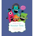Monster Party Card Design vector image
