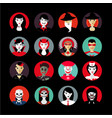 people in maskshalloween avatar set flat style vector image