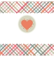 Romantic card with heart template EPS 8 vector image