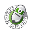 Round logo Robot Technology vector image