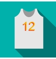 T-shirt for sport icon flat style vector image