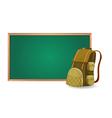 green board and school bag vector image vector image