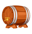 beer wooden barrel on white background vector image