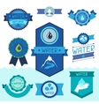 Set of water labels badges and stickers vector image vector image