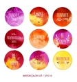 Abstract Watercolor labels vector image vector image