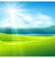 Abstract summer landscape vector image