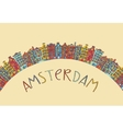 Amsterdam card vector image