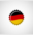 germany flag on beer cap vector image