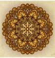 Golden floral ornament circular pattern old vector image