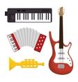 music festival set instruments vector image