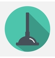 plunger icon vector image