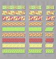 set of cute kawai decorative tapes or scotches vector image