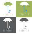 umbrella with fork design set vector image