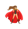 woman superhero in classic comics costume with red vector image