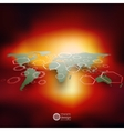 World map in perspective blurred infographic vector image
