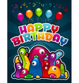 Birthday Party Monsters vector image vector image