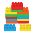 Lego blocks vector image