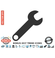 Wrench Flat Icon With 2017 Bonus Trend vector image