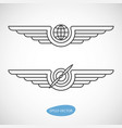 aviation emblems badges and logo patches vector image