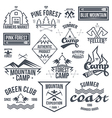 Set of retro vintage camping badges vector image