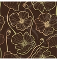 Elegance Seamless pattern with poppy vector image vector image