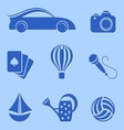 Hobby and leisure icons vector image