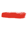 red brush stroke vector image vector image