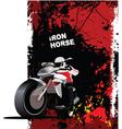 motorbike poster vector image vector image