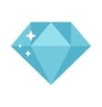 Flat design diamond vector image