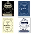 Set create your own bottle labels vector image