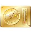 Barometer for determination of weather vector image