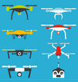 drones set vector image