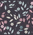endless colorful pattern with elegant flowers vector image