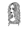 Girl hand drawn vector image