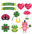 Good luck elements set vector image