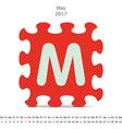 May 2017 puzzle calendar vector image